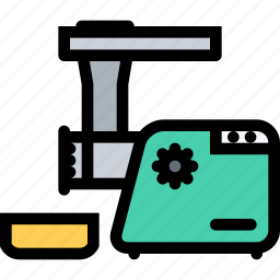 appliances, electronics, gadget, kitchen, meat grinder, technique icon