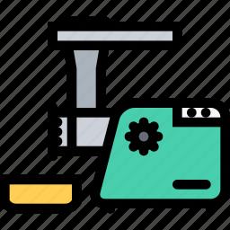 appliances, electronics, gadget, kitchen, meat grinder, technique icon