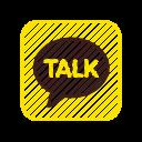 application, chat, kakao corporation, kakaotalk, kakaotalk logo icon