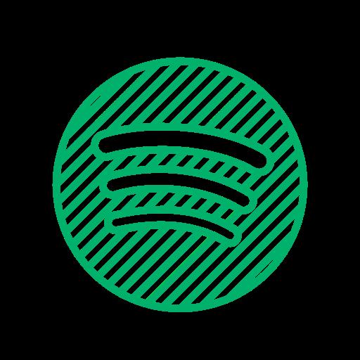 application, music, song, spotify, spotify logo icon