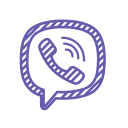 application, chat, phone, viber, viber logo icon