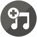 add, music, playlist, plus, songs icon