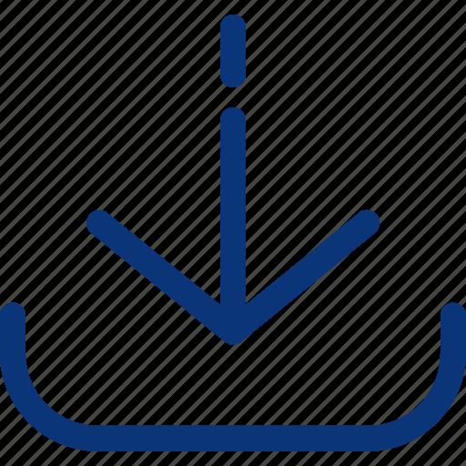 arrow, cloud, data, download, file, storage, ui icon