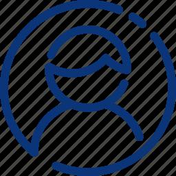 avatar, human, male, man, profile, ui, user icon