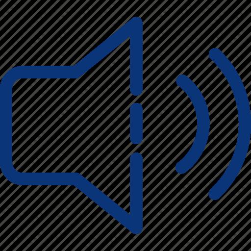 audio, microphone, music, on, sound, speaker, volume icon