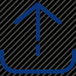 arrow, cloud, data, file, ui, upload, uploading icon