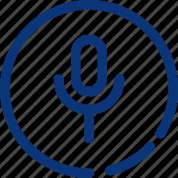 audio, mic, microphone, recording, talk, voice icon