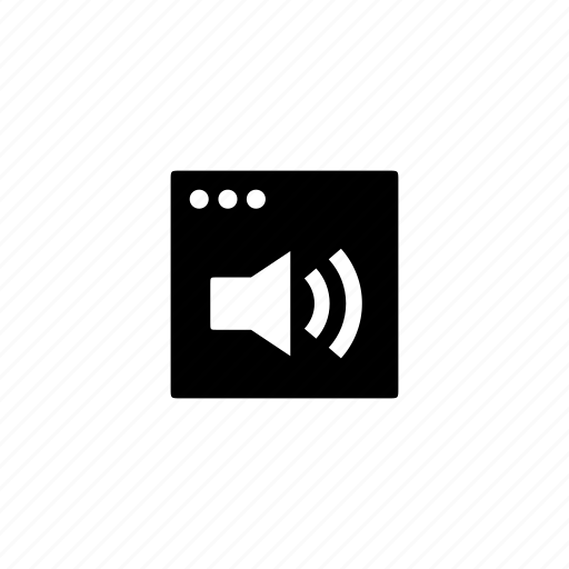 application, audio, solid icon