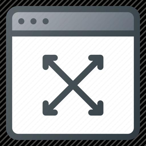 adjust, position, resize, size, window icon