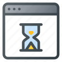 app, application, hourglass, loading, wait icon