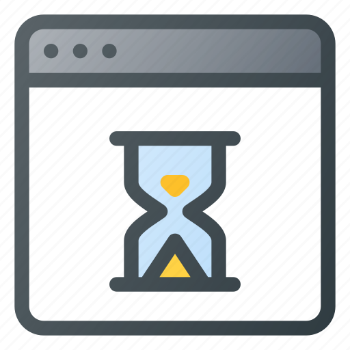 App, application, hourglass, loading, wait icon - Download on Iconfinder