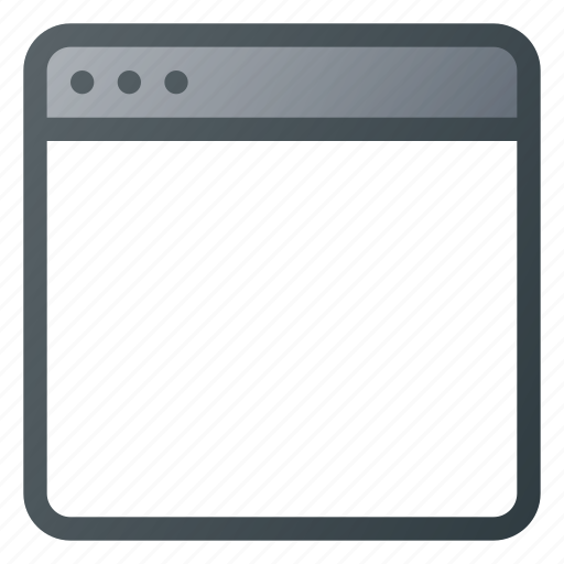 app, application, blank, page, screen icon