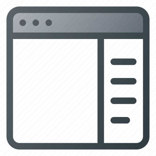 application, browser, right, sidebar, website icon