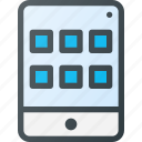 application, apps, tablet, tile icon