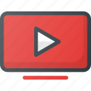 tv, youtube icon