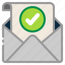 accept, approve, check mark, confirm, envelope, mail, message