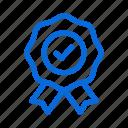 badge, best, original, quality, ribbon icon