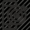 accurate, app, efficiency, exact, goal, phone, seo icon