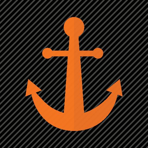 anchor, beach, nature, ocean icon