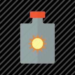 beach, block, nature, ocean, sun icon