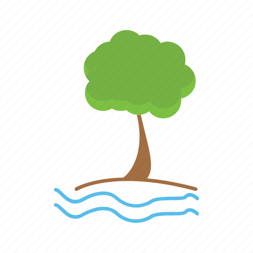 Beach, nature, ocean, tree icon - Download on Iconfinder