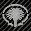 building, hotel, island, jumeirah, palm, service, tourism