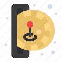 game, insert, fun, coin, play icon