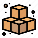 cubes, game, play icon