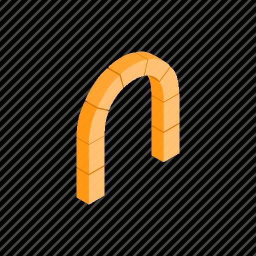 arch, frame, isometric, modern, semicircular, shape, tunnel icon