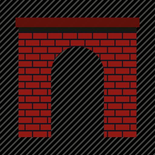 arch, architecture, brick, frame, modern, semicircular, shape icon