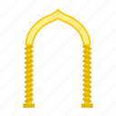 arabic, arch, eastern, islamic, monolith, muslim, oriental icon
