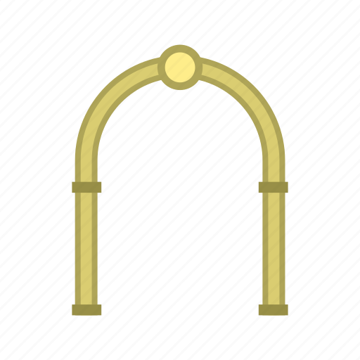 arch, architecture, frame, modern, semicircular, shape, tunnel icon
