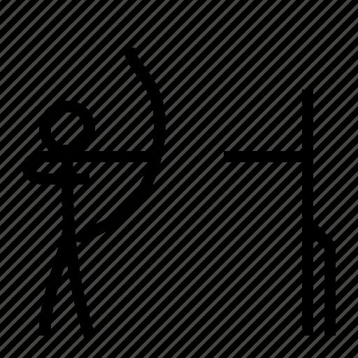 archer, archery, arrow, bow, sport, stabilizer icon