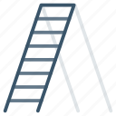 home, ladder, stair, tool, work icon