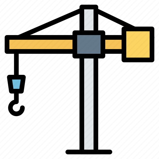 Crane, hook, lift, sonstruction, tools, weight icon - Download on Iconfinder