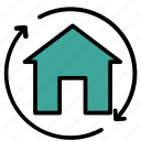 building, construction, home, house, property icon