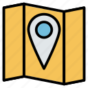 location, map, pin, placeholder, pointer icon