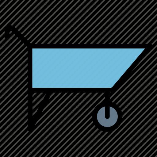 cart, cunstruction, gardening, trolley, wheelbarrow icon
