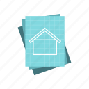 edit, house, measure, paint, project, residential, specify icon