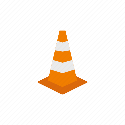 alert, cone, construction, equipment, road, security, warning icon