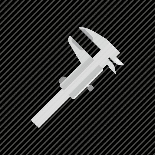 caliper, engineering, equipment, gauge, millimeter, technology, tool icon
