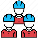 architecture, team, engineer, labour, workers, group, construction