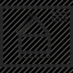 blue print, construction, document, floor plan icon