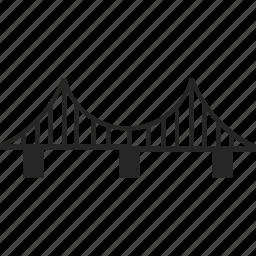 architecture, bridge, road, tower icon