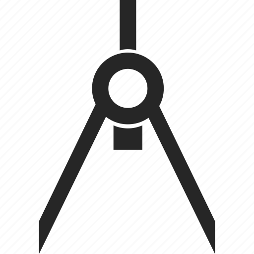 compass, drawing, protracter, tool icon
