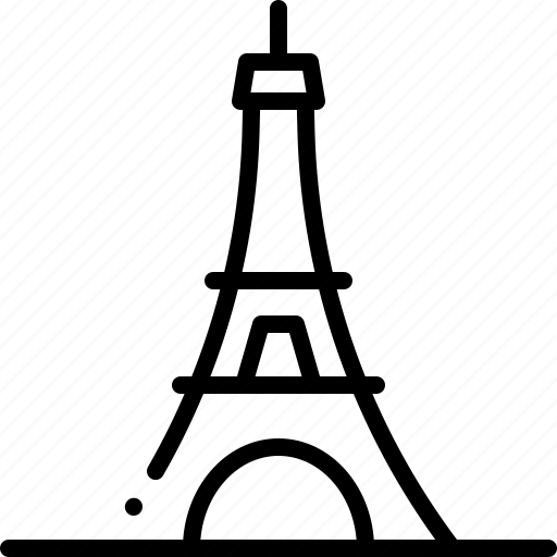 architecture and city, buildings, eiffel tower, engineering, france, monuments, paris icon