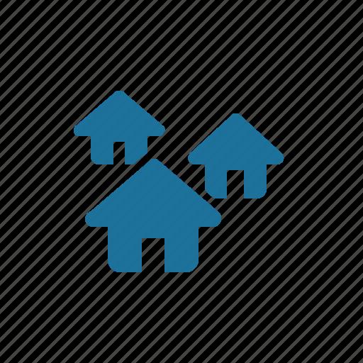 house, neighborhood, suburb icon