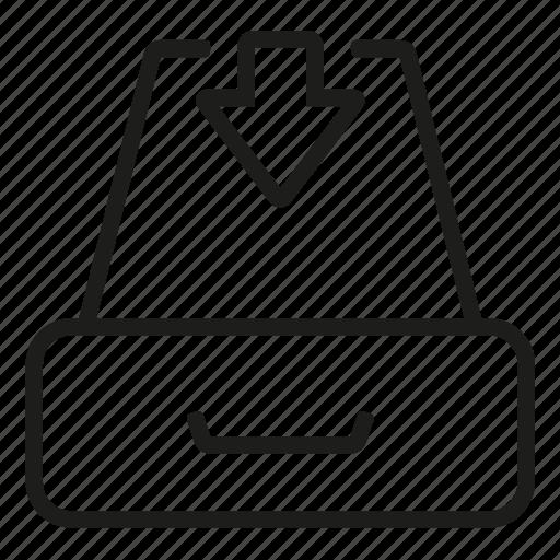 archive, box, down, files, project icon
