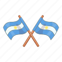 argentina, country, flag, national