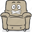 arm, armchair, cartoon, chair, emoji, stuffed icon